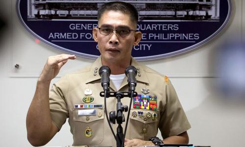 Thiếu tướng Edgard Arevalo, phát ngôn viên quân đội Philippines. Ảnh: PNA.