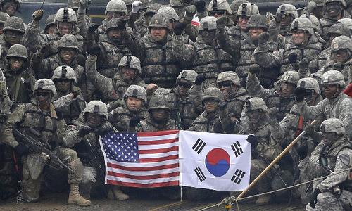 Binh sĩ Mỹ - Hàn tham gia tập trận chung năm 2018. Ảnh: Yonhap.