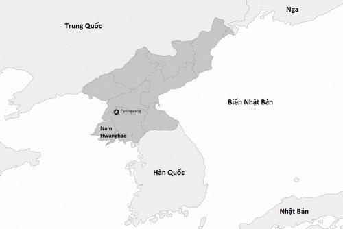 Vị trí tỉnh Nam Hwanghae. Đồ họa: HRW.