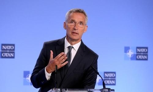 Tổng thư ký NATO Jens Stoltenberg tại Bỉ ngày 2/8. Ảnh: Reuters.