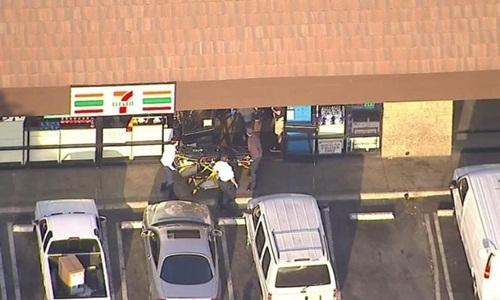 Cửa hàng tiện lợi 7-Eleven nơi nghi phạm bị cảnh sát bắt. Ảnh:CNN.