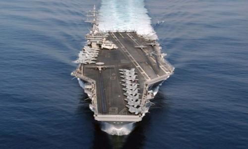 Tàu sân bay USS Ronald Reagan của Mỹ. Ảnh: Defpost.
