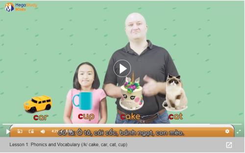Phương pháp học qua video hình ảnh trực quan sinh động giúp tiếp thu tiếng Anh nhanh hơn.