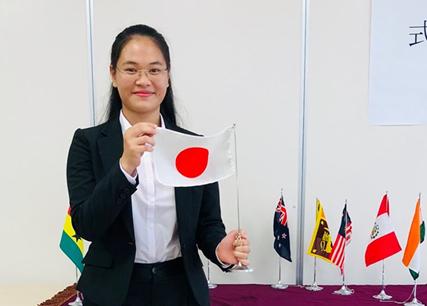 Nguyễn Thị Lan Ngân, nghiên cứu sinh tại đại học Hiroshima, Nhật Bản. Ảnh: Nhân vật cung cấp