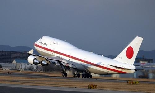 Chiếc Boeing 747-400 từng phục vụ Hoàng gia và các thủ tướng Nhật Bản. Ảnh:Lực lượng Phòng vệ Trên không Nhật Bản.