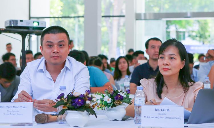 Tiến sĩ Phạm Minh Tuấn, CEO Topica trong Hội đồng Ban giám khảo. Ảnh: Cao Tuấn