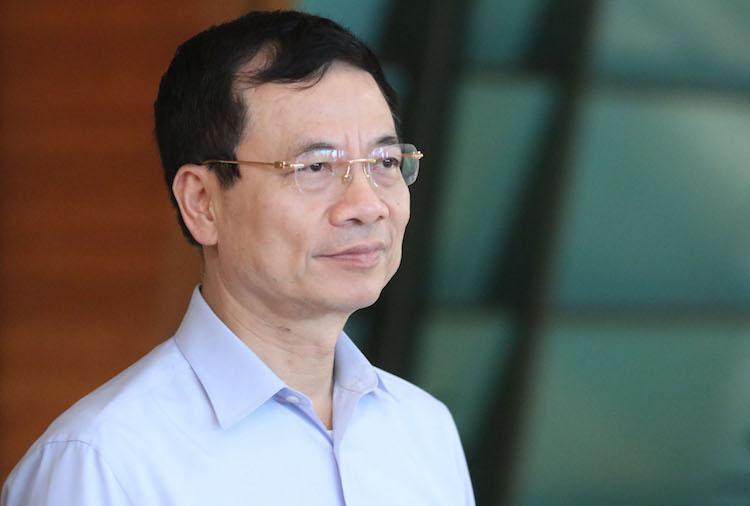 Bộ trưởng Thông tin Truyền thông Nguyễn Mạnh Hùng. Ảnh: Võ Hải
