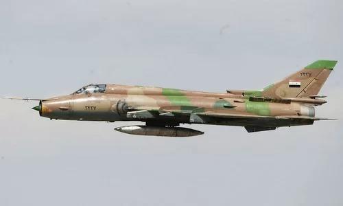 Một chiếc Su-22 của Syria xuất kích hồi tháng 4/2017. Ảnh: Sputnik.