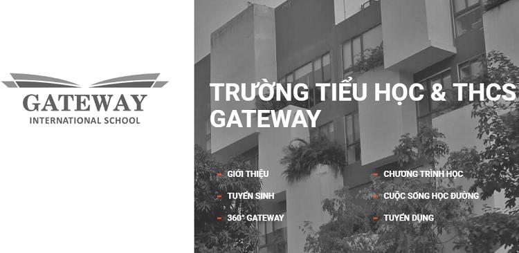 Trang chủ website trường Gateway được đổi từ Trường PTLC quốc tế Gateway sang Trường Tiểu học & THCS Gateway sau khi xảy ra sự việc hôm 6/8. Ảnh chụp màn hình