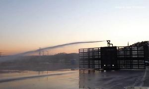 Xe vòi rồng điều khiển bằng remote ở Hàn Quốc