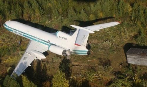 Chiếc TU-154 của hãng hàng không Alrosa Airlines Nga trượt khỏi đường băng sau khi hạ cánh khẩn cấp hồi năm 2010. Ảnh: Airline Reporter.