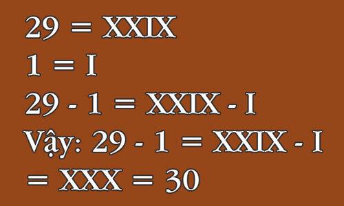 Làm thế nào để 29 - 1 = 30? - page 2
