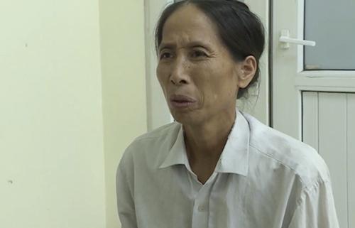 Bà Trần Thị Lan tại cơ quan điều tra.