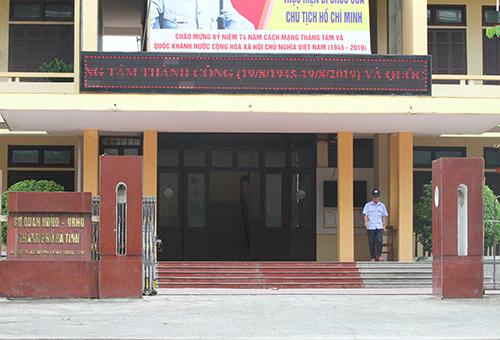 Trụ sở HĐND, UBND thành phố Hà Tĩnh, nơi hai ông Quý và Đạt công tác. Ảnh: Đức Hùng