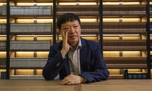 Hồ Tích Tiến, tổng biên tập Global Times, tại Bắc Kinh hồi tháng 6. Ảnh: CNN.
