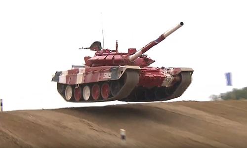 Đội tuyển Nga vô địch Tank Biathlon 2019