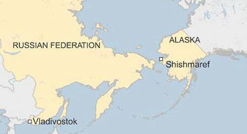 Vị trí của Alaska và Vladivostok. Đồ họa: BBC