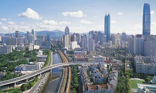 Một góc của thành phố Thâm Quyến, Trung Quốc. Ảnh: Alamy.