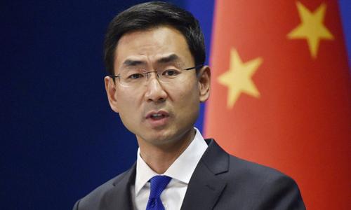 Người phát ngôn Bộ Ngoại giao Trung Quốc Cảnh Sảng. Ảnh: AFP.