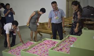 Triều Tiên trưng bày sản phẩm nội thất nội địa