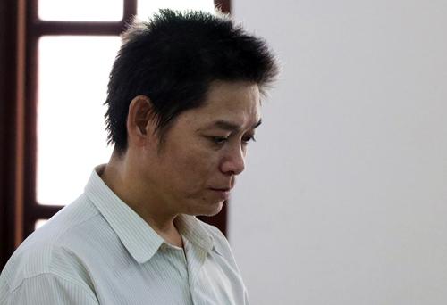 Bị cáo Trần Thành Hổ tại tòa. Ảnh: Hoàng Nam.