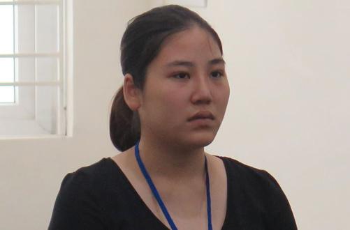Bị cáo Hương tại phiên tòa sơ thẩm.