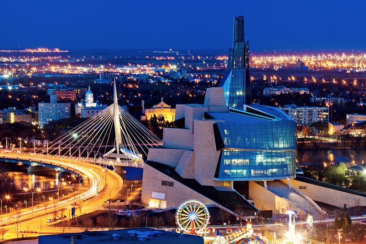 Tỉnh bang Manitoba (Canada) về đêm. Ảnh: Goldercitizen