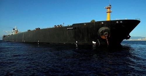 Siêu tàu dầu Grace 1, hiện đã đổi tên thành Adrian Darya. Ảnh: Reuters.