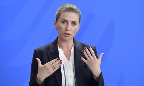 Thủ tướng Đan MạchMette Frederiksen tại Đức hồi tháng 7. Ảnh: AFP.