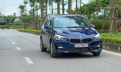 Dòng xe 7 chỗ ngồi 218i GranTourer vẫn giữ được đặc trưng cảm giác lái BMW. Ảnh: Lương Dũng.