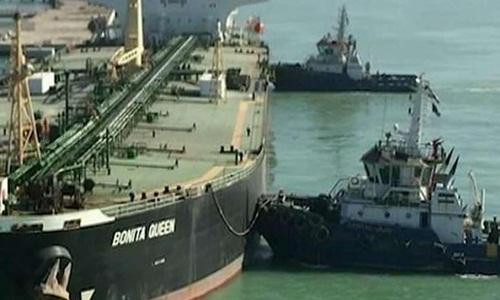 Tàu Bonita Queen chở dầu Iran đang hướng tới Syria. Ảnh: Fox.
