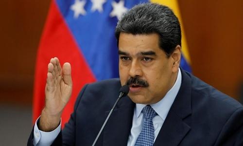 Tổng thống Venezuela Maduro tại Caracas hồi tháng một. Ảnh: Reuters.