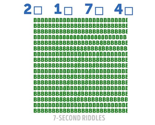 Năm câu đố tìm số trong tranh - 2