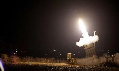 Hệ thống tên lửa phòng không Vòm sắt của Israel khai hỏa. Ảnh: Times of Israel
