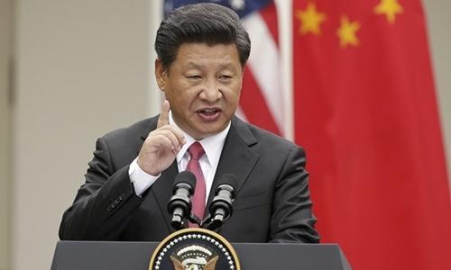 Chủ tịch Trung Quốc Tập Cận Bình tại Mỹ tháng 9/2015. Ảnh:Reuters.