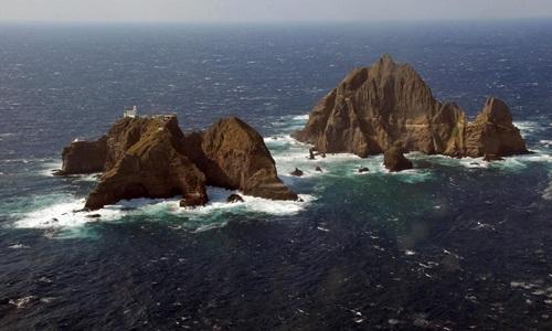 Khu vực đảo Hàn Quốc gọi làDokdo, Nhật Bản gọi là Takeshima. Ảnh: Reuters.