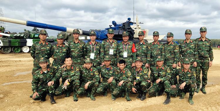 Kíp xe tăng Việt Nam trong cuộc thi Army Games 2019 ở Nga. Ảnh:QĐND