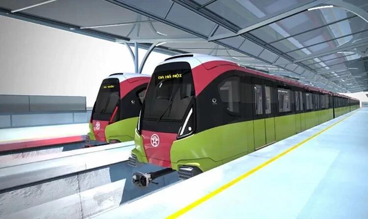 Hình dáng, màu sắc của đoàn tàu Metro Nhổn-ga Hà Nội trong tương lai.