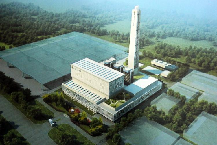 Phối cảnh nhà máy đốt phát điện Vietstar được khởi công vào ngày 28/8 tới.