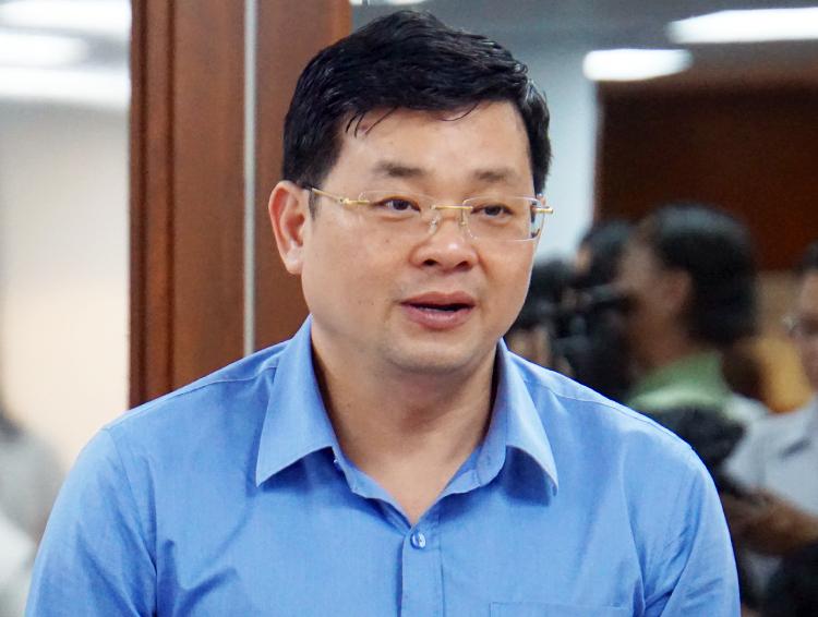 Ông Nguyễn Toàn Thắng, Giám đốc Sở Tài nguyên - Môi trường TP HCM. Ảnh: Hữu Nguyên