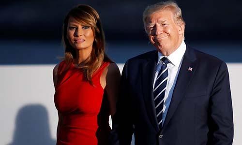 Tổng thống Mỹ Donald Trump và Đệ nhất phu nhân Melania. Ảnh: Reuters.