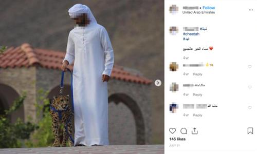 Ảnh chụp báo săn làm thú cưng được giới nhà giàu đăng lên mạng xã hội. Ảnh: CNN.