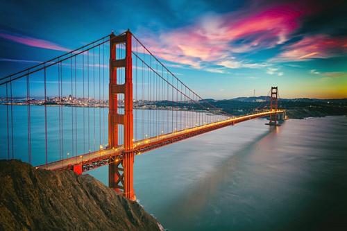 Cầu Cổng Vàng (Golden Gate Bridge). Ảnh: GE