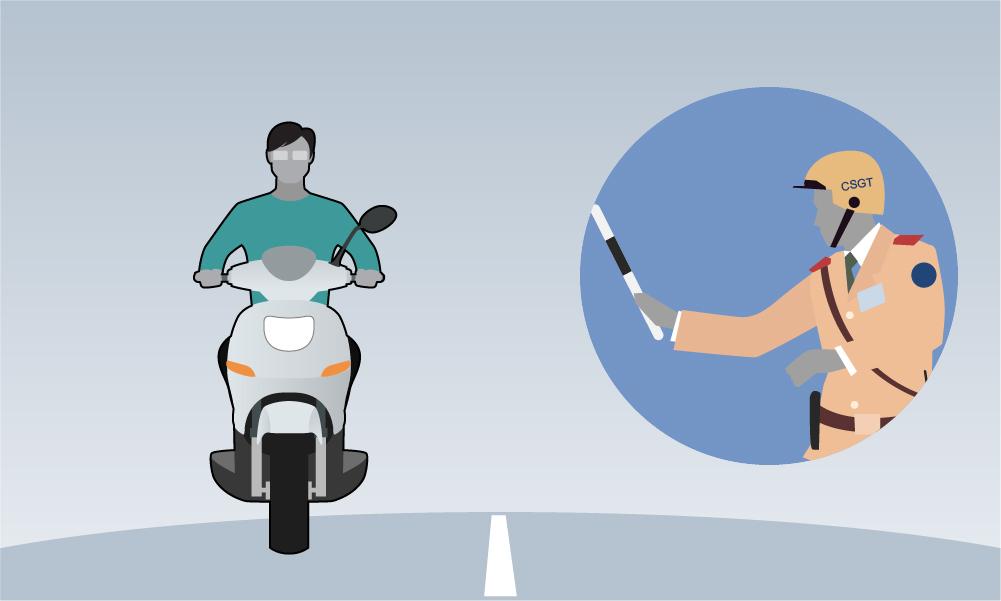 Những lỗi CSGT phạt tại chỗ đối với xe máy