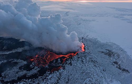 Một núi lửa ở Iceland. Ảnh: Guide to Iceland