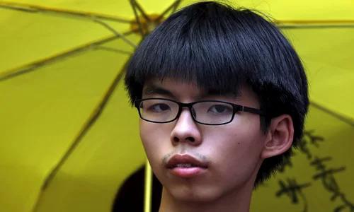 Joshua Wong tại một nhà ga ở Hong Kong tháng 7/2015. Ảnh: Reuters.