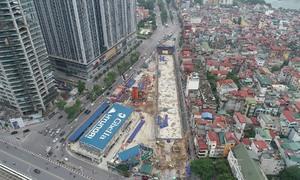 Đào ga ngầm đường sắt Nhổn - ga Hà Nội
