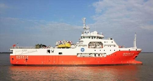 Tàu khảo sát Địa chất Hải Dương 8 của Trung Quốc. Ảnh: Gulf Times.