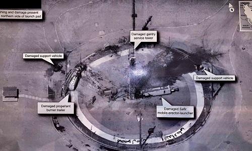 Ảnh chụp bãi phóng tên lửa Iran do Trump đăng ngày 30/8. Ảnh: Sputnik.
