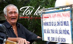 Cụ ông 94 tuổi chạy xe máy bán kẹo bông gòn
